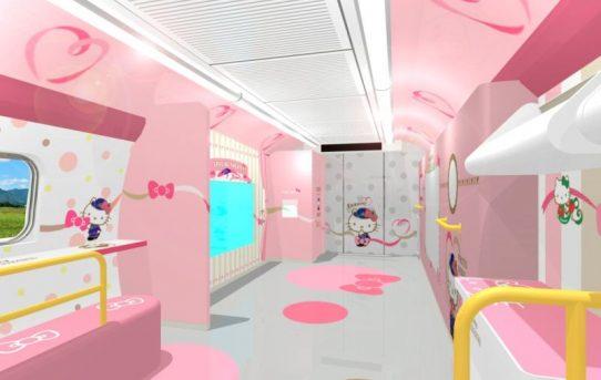 A Look Inside The Hello Kitty Bullet Train