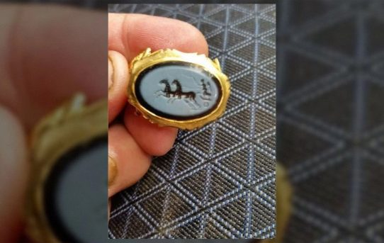 Amateur archaeologist discovers 1,800-year-old golden ring from Rome