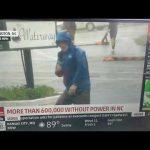 Weatherman dramatically braces for Hurricane Florence
