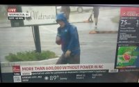 Weatherman dramatically braces for Hurricane Florence