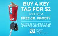 Wendy's Frosty Key Tag